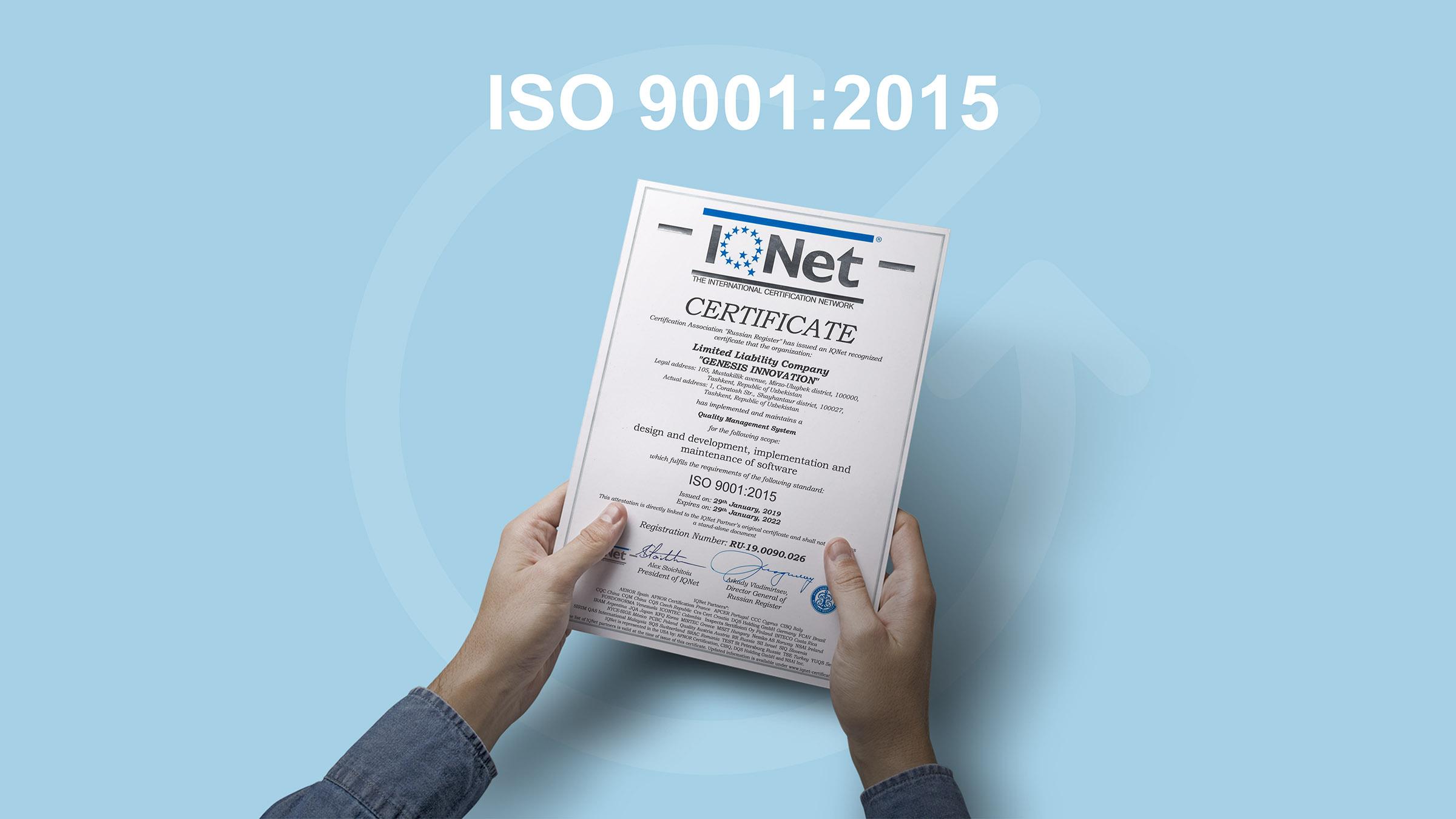 ISO 9001:2015 sifat menedjmenti tizimi